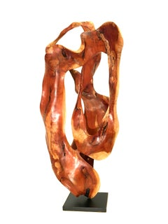 Bosc - 21st Century, Contemporary, Abstract Sculpture, Mahogany Wood