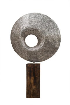 Silently in Space - 21st Cent, Contemporary, Abstract Sculpture, Stainless Steel