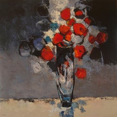 Gerro amb Flors - 21st Cent, Contemporary, Still Life Painting, Oil on Canvas