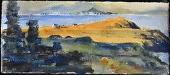 Irish Study III - 21st Century, Contemporary, Landscape, Watercolor on Paper