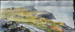 Irish Study I - 21st Century, Contemporary, Landscape, Watercolor on Paper