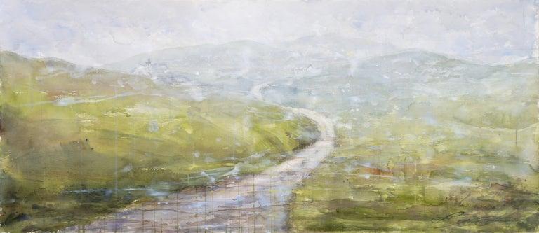 Ekaterina Smirnova Landscape Art - Visiting Friends - 21st Century, Contemporary, Landscape, Watercolor on Paper