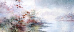 Autumn Lake - 21st Century, Contemporary, Landscape, Watercolor on Paper