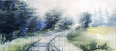Hazy Path - 21st Century, Contemporary, Landscape, Watercolor on Paper