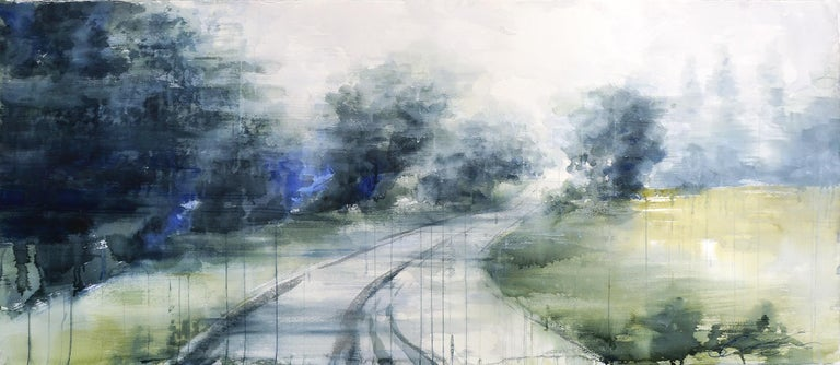 Ekaterina Smirnova Landscape Art - Hazy Path - 21st Century, Contemporary, Landscape, Watercolor on Paper