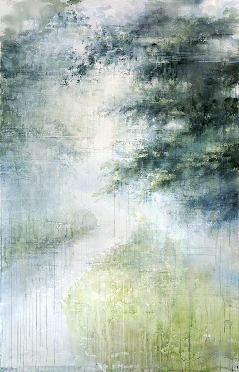 Magical Path - 21st Century, Contemporary, Landscape, Watercolor on Paper 1