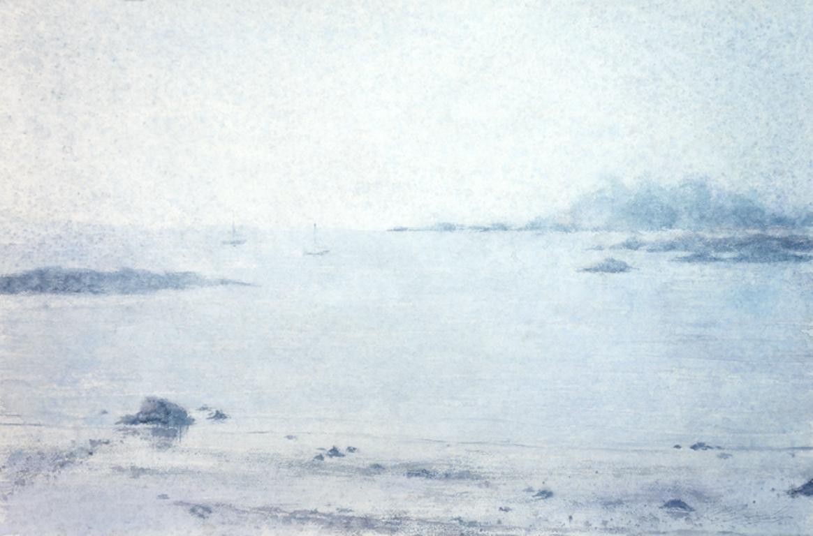 Wonson Cove - 21st Century, Contemporary, Landscape, Watercolor on Paper