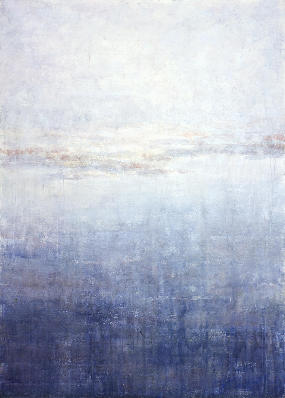 Hazy Landscape 2 - 21st Century, Contemporary, Landscape, Watercolor on Paper