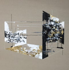 Absence - 21st Century, Contemporary, Abstract Painting, Mixed Media on Canvas