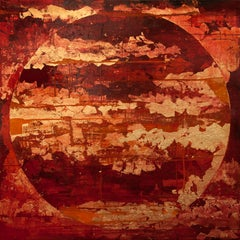 Blood Red Meridian - 21st Century, Contemporary, Abstract Painting, Mixed Media