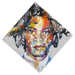 Basquiat - 21st Century, Contemporary Painting, Modern Portrait