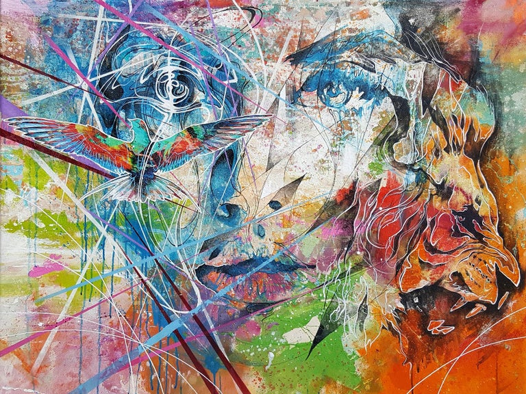 Danny O'Connor Portrait Painting - It Was All a Dream - 21st Century, Contemporary Painting, Modern Portrait