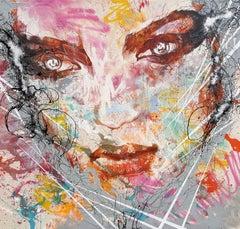 Got That Fierce Focus - 21st Century, Contemporary Painting, Modern Portrait