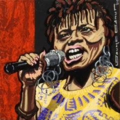 Dona Rasta - 21st Century, Contemporary, Acrylic Painting, Musician Portrait