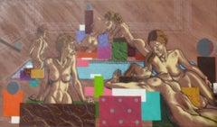 El Baño - 21st Century, Contemporary, Acrylic on Canvas, Nude Painting