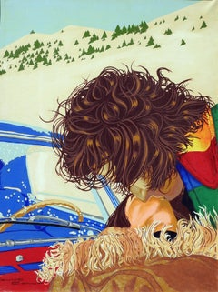 Jaume y Bruna - 21st Century, Contemporary Painting, Acrylic, Landscape, Kiss