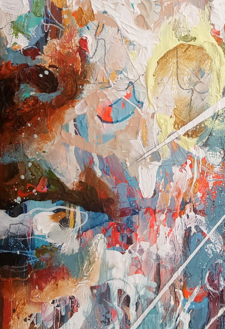 Cropped Portrait Study - 21st Century, Contemporary Painting, Modern Portrait - Gray Portrait Painting by Danny O'Connor