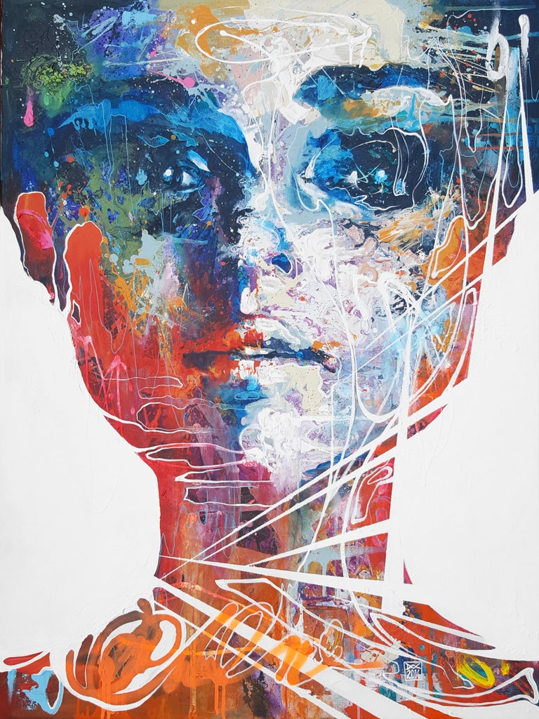 Danny O'Connor Figurative Painting - Don't Be Fooled By The Pure Persona - 21st Cent, Contemporary Painting, Portrait