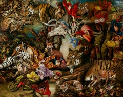 Screenplay - 21st Century, Contemporary, Figurative Art, Oil Painting, Animals