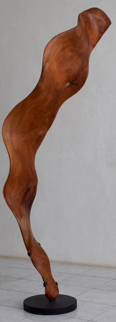 Llama - 21st Century, Contemporary, Abstract Sculpture, Mahogany Wood, Roots