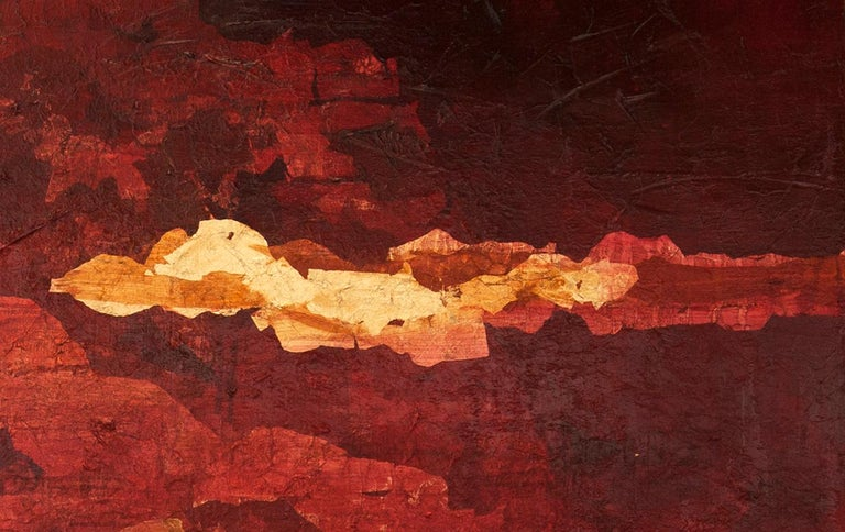 Into the Heart with Gold - 21st Century, Contemporary, Oil Painting, Gold Leaf For Sale 2