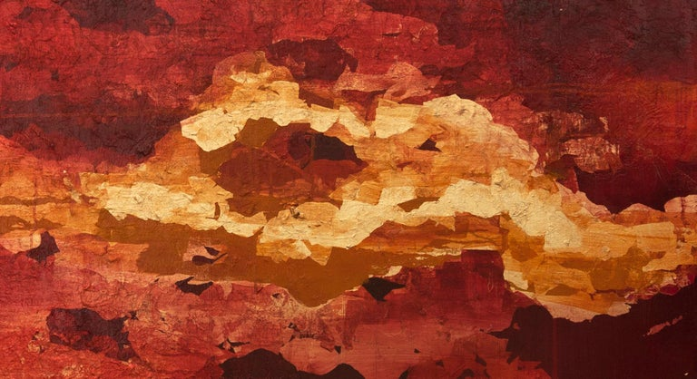 Into the Heart with Gold - 21st Century, Contemporary, Oil Painting, Gold Leaf For Sale 4