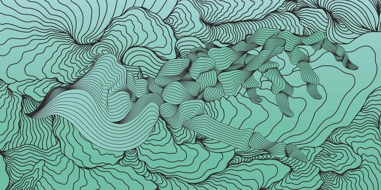 Joan Tarragó Abstract Print - Bali Blues - 21st Century, Contemporary, Abstract, Urban Art, Pigment Print