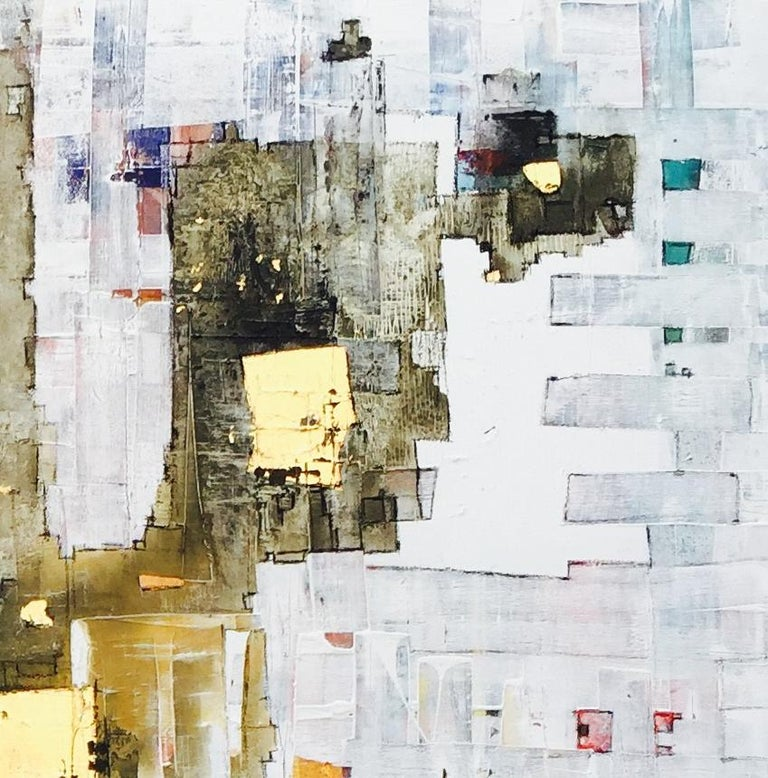 Important Style - 21st Century, Contemporary, Abstract Painting, Gold Leaf For Sale 3