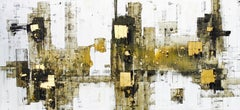 Moment of Harmony - 21st Century, Contemporary, Abstract Painting, Gold Leaf