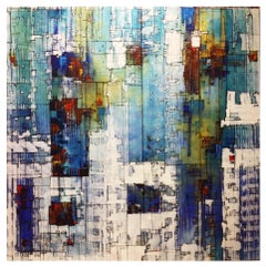 Ground Water Air - 21st Century, Contemporary, Abstract Painting, Acrylic, Oil