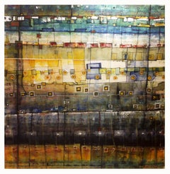 Vintage Zone - 21st Century, Contemporary, Abstract Painting, Acrylic on Canvas