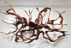Labyrinth - 21st Century, Contemporary, Abstract Sculpture, Mahogany Wood, Roots