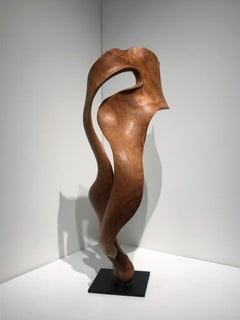 Destello - 21st Century, Contemporary, Abstract Sculpture, Mahogany Wood, Roots