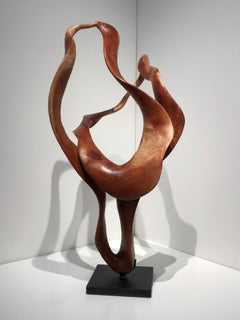 Melati - 21st Century, Contemporary, Abstract Sculpture, Mahogany Wood, Roots