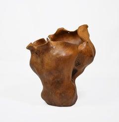 Euphoria - 21st Century, Contemporary, Abstract Sculpture, Teak Wood, Roots