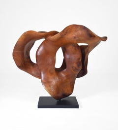 Harmony - 21st Century, Contemporary, Abstract Sculpture, Mahogany Wood, Roots