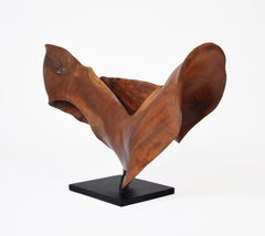 Rapture - 21st Century, Contemporary, Abstract Sculpture, Mahogany Wood, Roots
