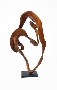 Symphony - 21st Century, Contemporary, Abstract Sculpture, Mahogany Wood, Roots