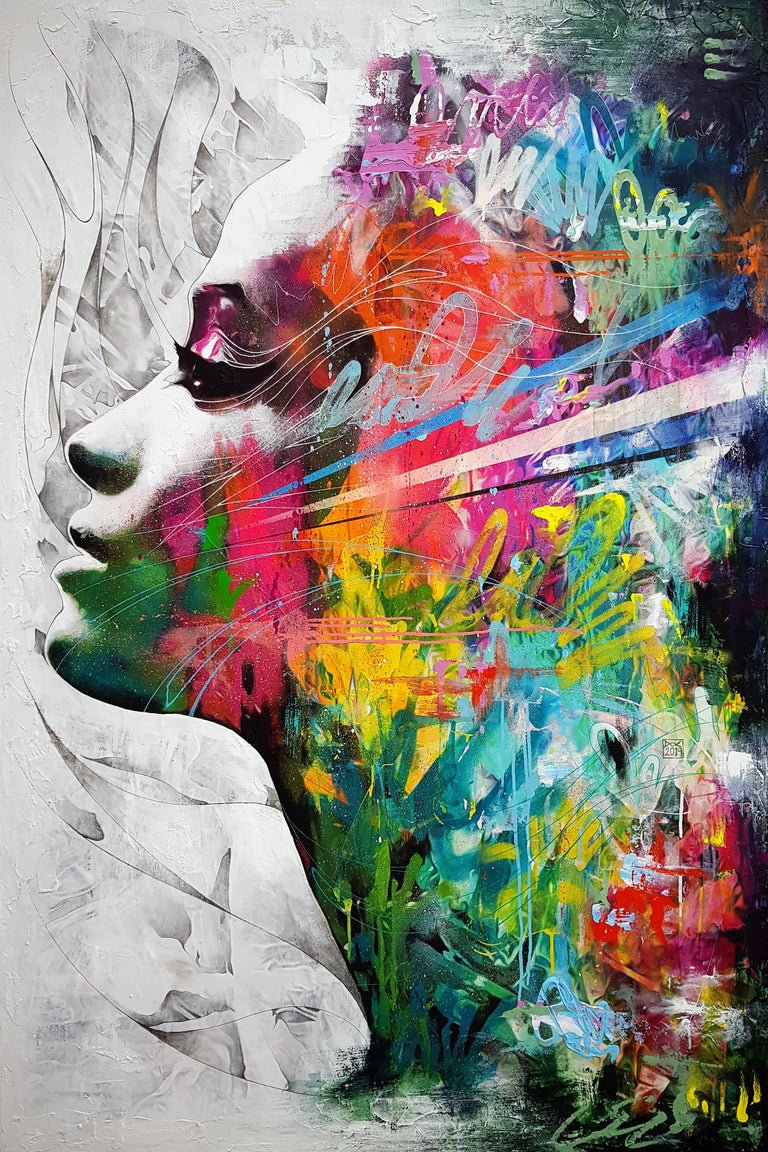 Danny O'Connor Portrait Painting - Inhale The Magic, Exhale Your Woes - 21st Cent, Contemporary Painting, Portrait