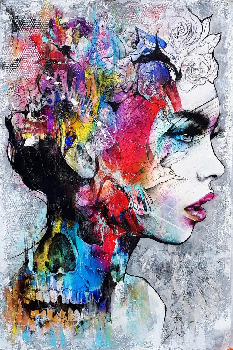 Danny O'Connor Portrait Painting - Electro-Magicism - 21st Century, Contemporary Painting, Portrait, Graffiti