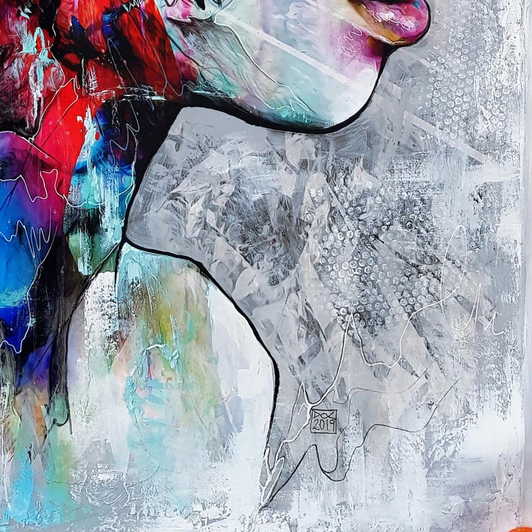 Electro-Magicism - 21st Century, Contemporary Painting, Portrait, Graffiti For Sale 2