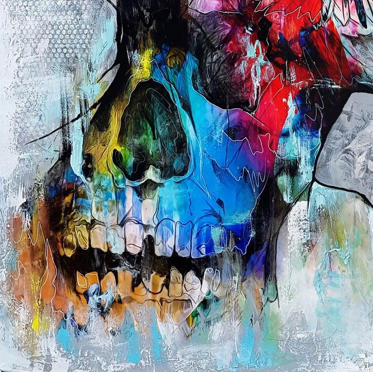 Electro-Magicism - 21st Century, Contemporary Painting, Portrait, Graffiti For Sale 1