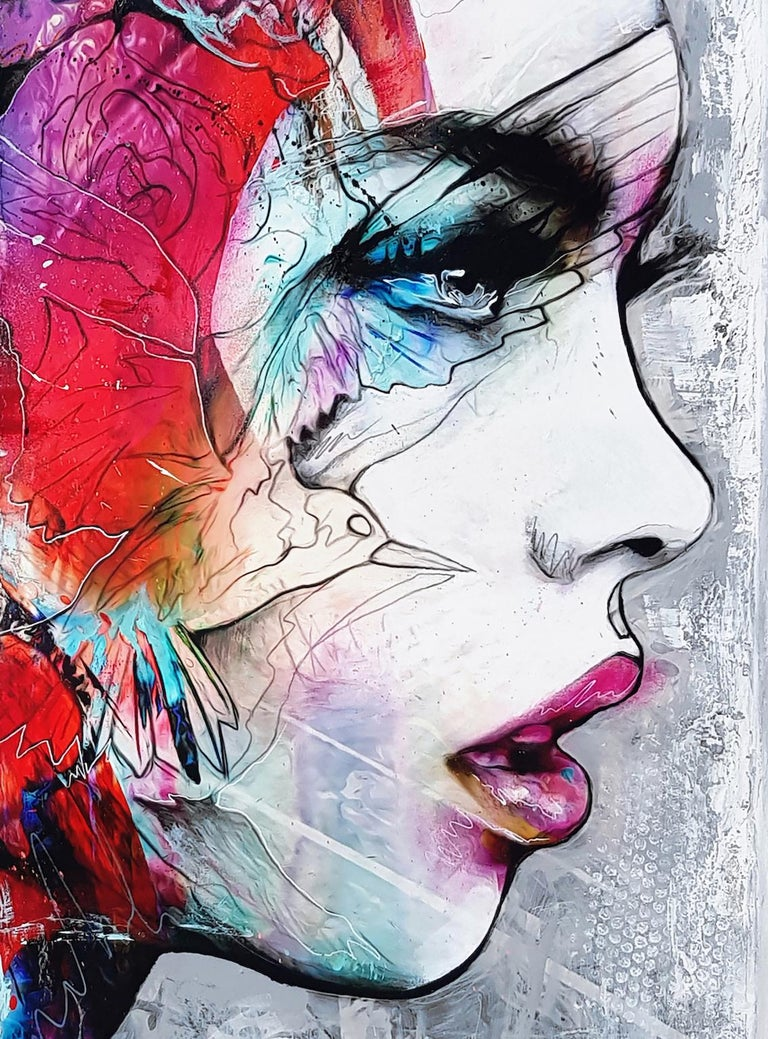 Electro-Magicism - 21st Century, Contemporary Painting, Portrait, Graffiti For Sale 3