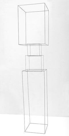 Homenaje A La Levedad III - 21st Century, Contemporary, Abstract, Iron Sculpture