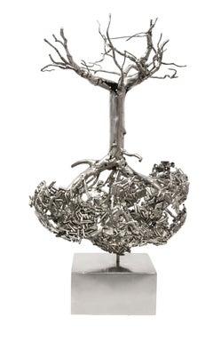 Árbol Invertido - 21st Century, Contemporary, Figurative Sculpture, Steel, Tree