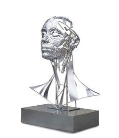 Ouverture - 21st Century, Contemporary, Figurative Sculpture, Steel, Portrait