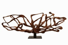 Radiance - 21st Century, Contemporary, Abstract Sculpture, Lychee Wood, Roots