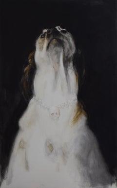 Gran Negro - 21st Century, Contemporary, Figurative Oil Painting, Dog, Animals