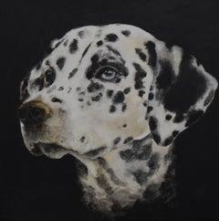 Déjà Vu - 21st Century, Contemporary, Figurative Oil Painting, Dog, Animals
