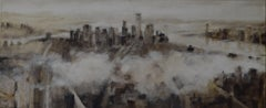 Niebla Sobre Manhattan - 21st Century, Contemporary Art, Figurative Oil Painting